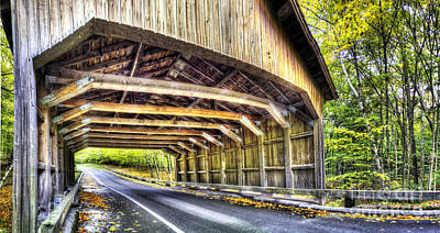 Covered Bridge On Pierce Stocking Scenic Drive Art Print by Twenty Two North Photography