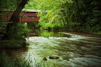 Covered Bridge Over French Creek Art Print