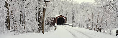 Covered Bridge Pa Print by Panoramic Images