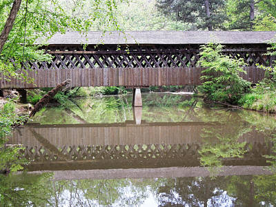 Art Print featuring the photograph Covered Bridge by Pete Trenholm