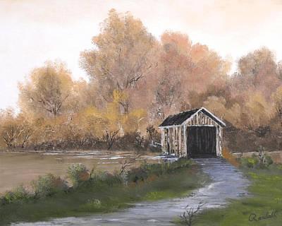 Covered Bridge Art Print by Randall Brewer