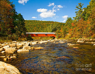 Photograph - Covered Bridge by Ronald Lutz