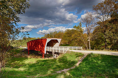 Photograph - Covered Bridge by Sennie Pierson
