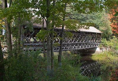 Photograph - Covered Bridge - Shirley Massachusetts by John Black