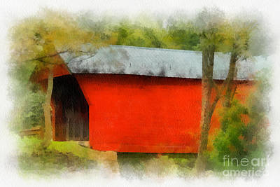 Covered Bridge - Sinking Creek Art Print