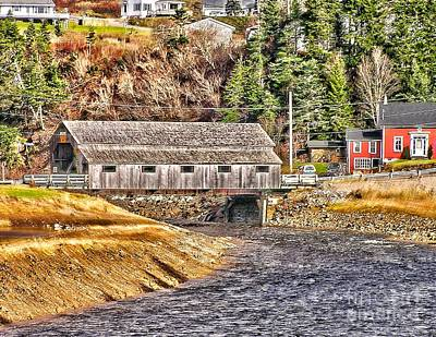 Photograph - Covered Bridge St Martins Canada by Nick Zelinsky