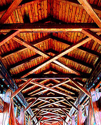 Covered Bridge Structure Art Print