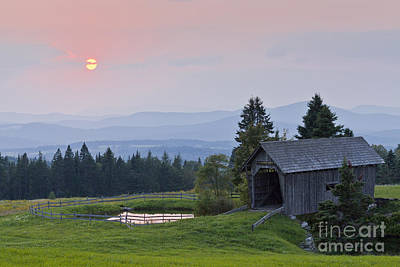 Photograph - Covered Bridge Sunset by Alan L Graham