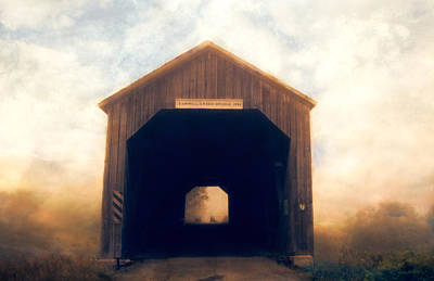 Covered Bridge Art Print by Tracy Munson