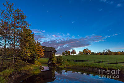 Photograph - Covered Bridge Under A Vermont Sky by Susan Cole Kelly