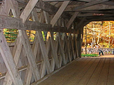 Covered Bridge Art Print by Victoria Sheldon