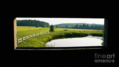 Photograph - Covered Bridge View by Alan L Graham