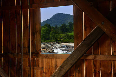 Photograph - Covered Bridge by Walt Sterneman
