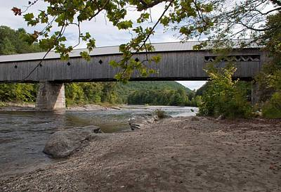 Photograph - Covered Bridge West Dummerston Vermont by John Black