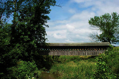 Photograph - Covered Footbridge by Ron Grafe