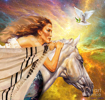 Prayer Warrior Digital Art - Covered In Prayer by Dolores Develde
