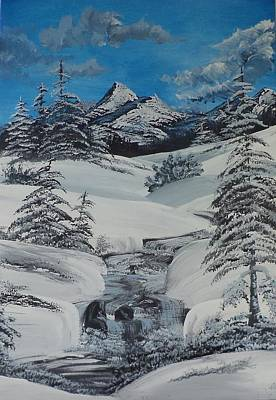 Ice Climbing Painting - Covered In Snow by Ira Florou