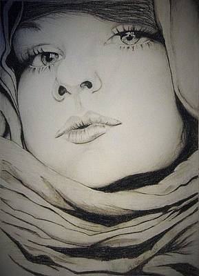 Beautiful Hijabs Drawing - Covered by Kimberly Besaw