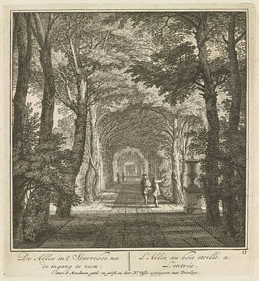 Given Drawing - Covered Path Given To The Input  View Of The Park  Duck by Isaac De Moucheron