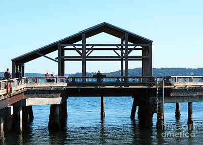 Photograph - Covered Pier At Port Townsend by Connie Fox