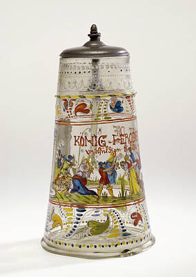 Czech Republic Drawing - Covered Tankard Unknown Czech Republic by Litz Collection