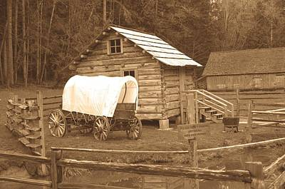 Photograph - Covered Wagon Old Photo Style by Tikvah's Hope