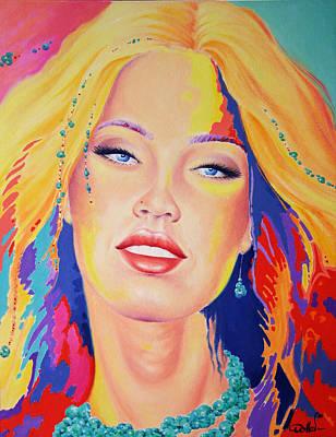 Megan Fox Painting - Covergirl by Hans Doller