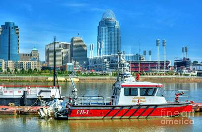 Photograph - Covington Fire Boat by Mel Steinhauer