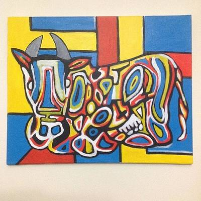 Pop Art Wall Art - Photograph - Cow: Acrylic On Canvas,by: Jose Rojas by Jose Rojas