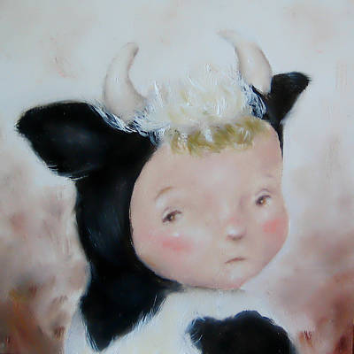 Painting - Cow Boy by Junko Van Norman