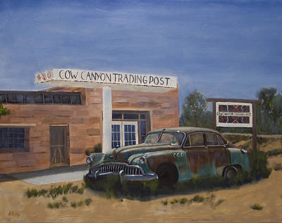 Buick Painting - Cow Canyon Trading Post by Jack Atkins
