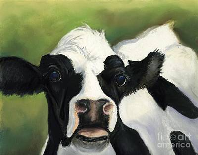 Cow Closeup Art Print by Charlotte Yealey