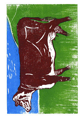 Cookbook Digital Art - Cow by David Esslemont