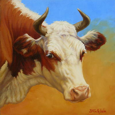 Cow Face Art Print
