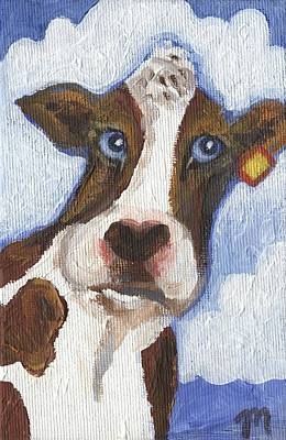 Dairy Farm Painting - Cow Fantasy Two by Linda Mears