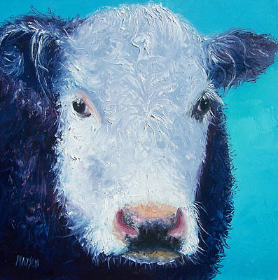 Farmyard Painting - Cow Painting 'camomile' By Jan Matson by Jan Matson