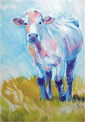 Painting - Cow Painting by Mike Jory