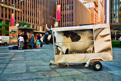 Photograph - Cow Parade N Y C 2000 - Got Milk Cow by Allen Beatty