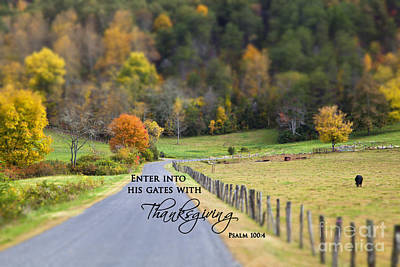 Cow Pasture With Scripture Art Print