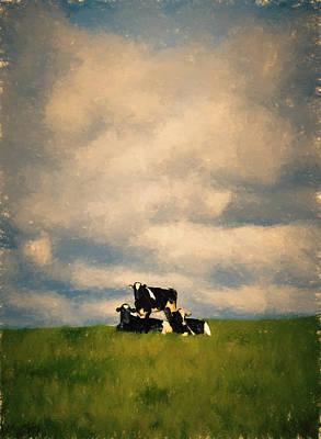 Hill Mixed Media - Cow Pyramid by John K Woodruff