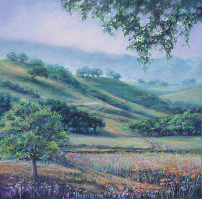 Pastel - Cow Trails by Denise Horne-Kaplan