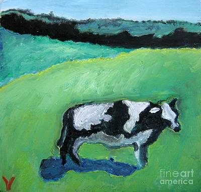 Avant Garde Mixed Media - Cow by Venus