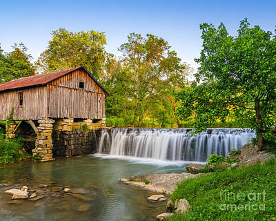Old Mills Photograph - Cowans Mill Summer by Anthony Heflin