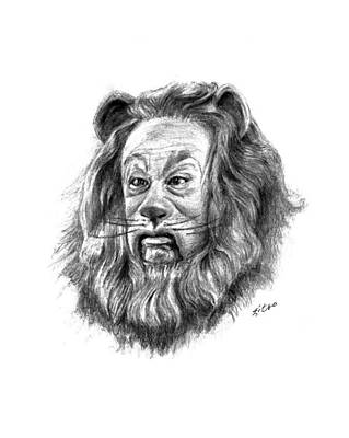 Cowardly Lion Print by Lou Ortiz