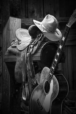 Photograph - Cowboy Acoustic Guitar by Randall Nyhof
