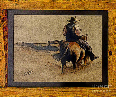 Oil Painter Photograph - Cowboy Art By L. Sanchez by Al Bourassa