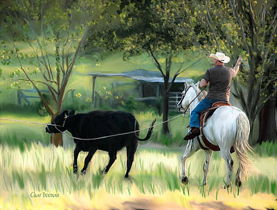 Painting - Cowboy At Work by Char Doonan