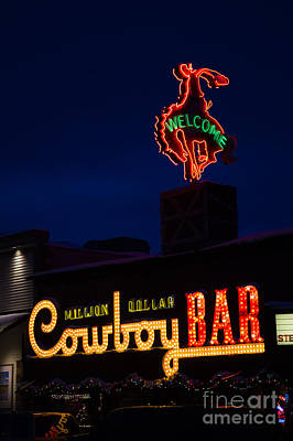 Cowboy Bar Art Print by Wildlife Fine Art