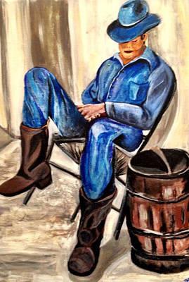 Cowboy Blue Art Print by Melanie Wadman