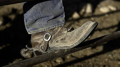 Art Print featuring the photograph Cowboy Boots And Spurs by James Sage
